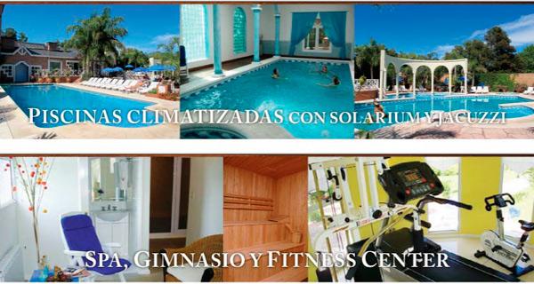 Piscinas climatizadas con solarium y jacuzzi. Spa, gimnasio y fitness center.
